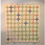 Vintage 50s Diagonal Ninepatch Quilt
