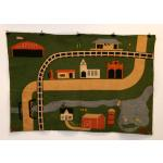Folk Art Wool Felt Wall Hanging